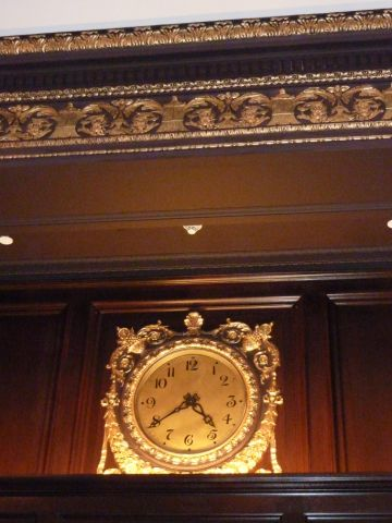 Clock in the lobby